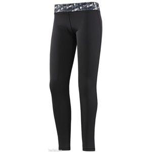 ADIDAS Logo Black Techfit Climalite Leggings Tight